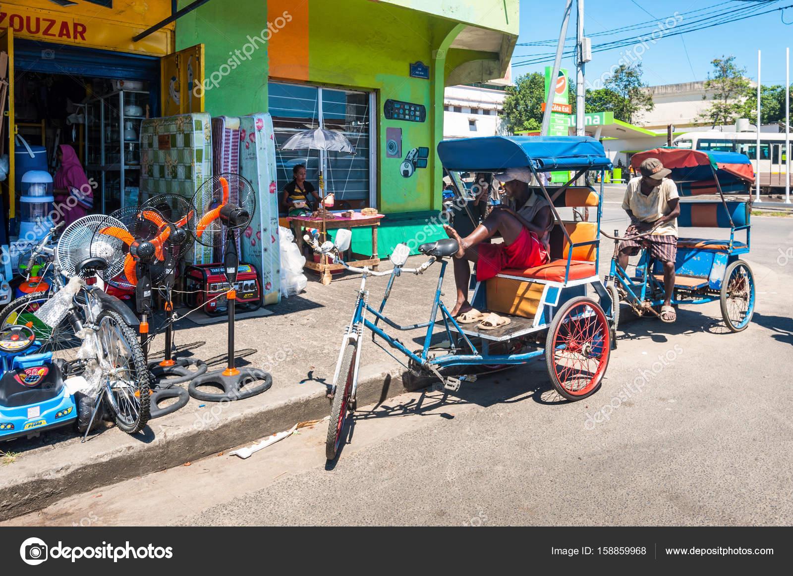 Malagasy rickshaws in Madagascar