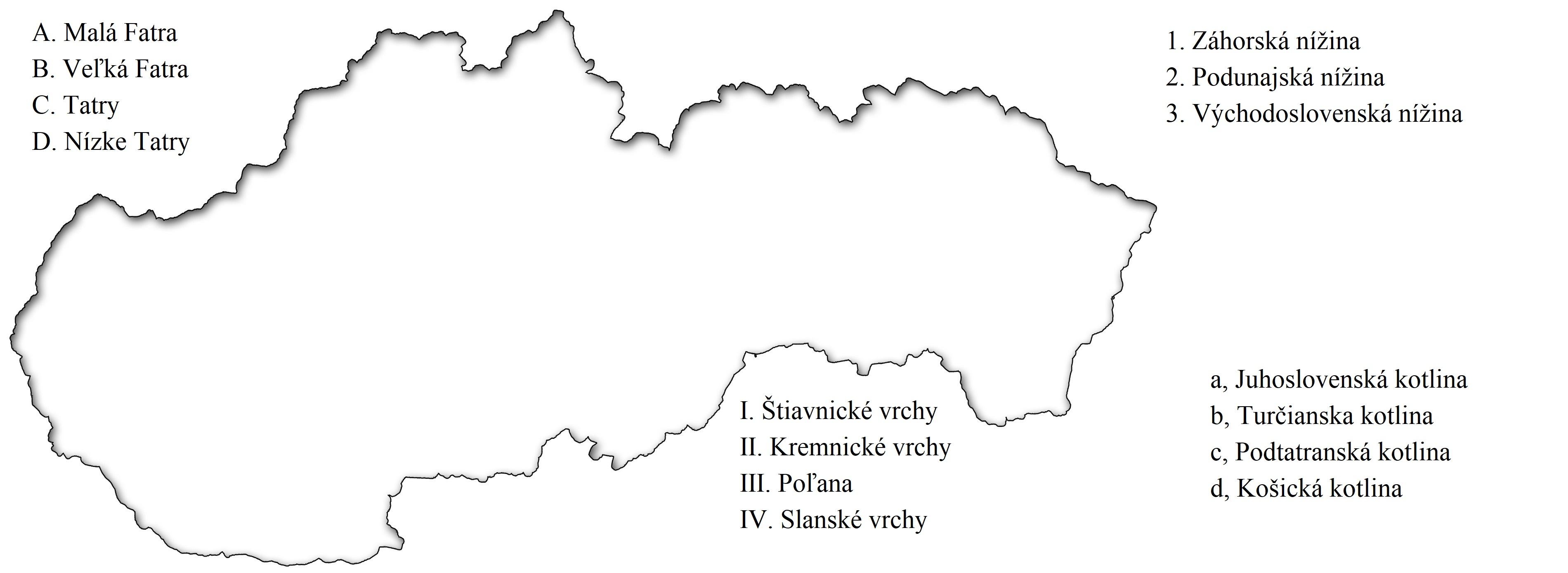 slovensko povrch